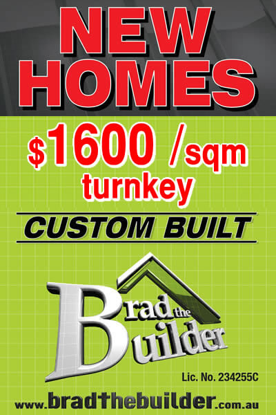new homes from 1600 dollar per sqm